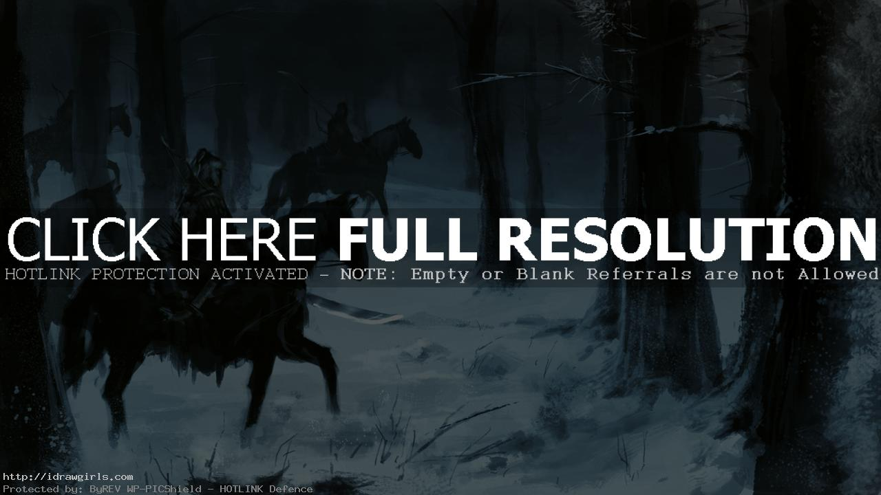 Speed painting tutorial horse men in snow