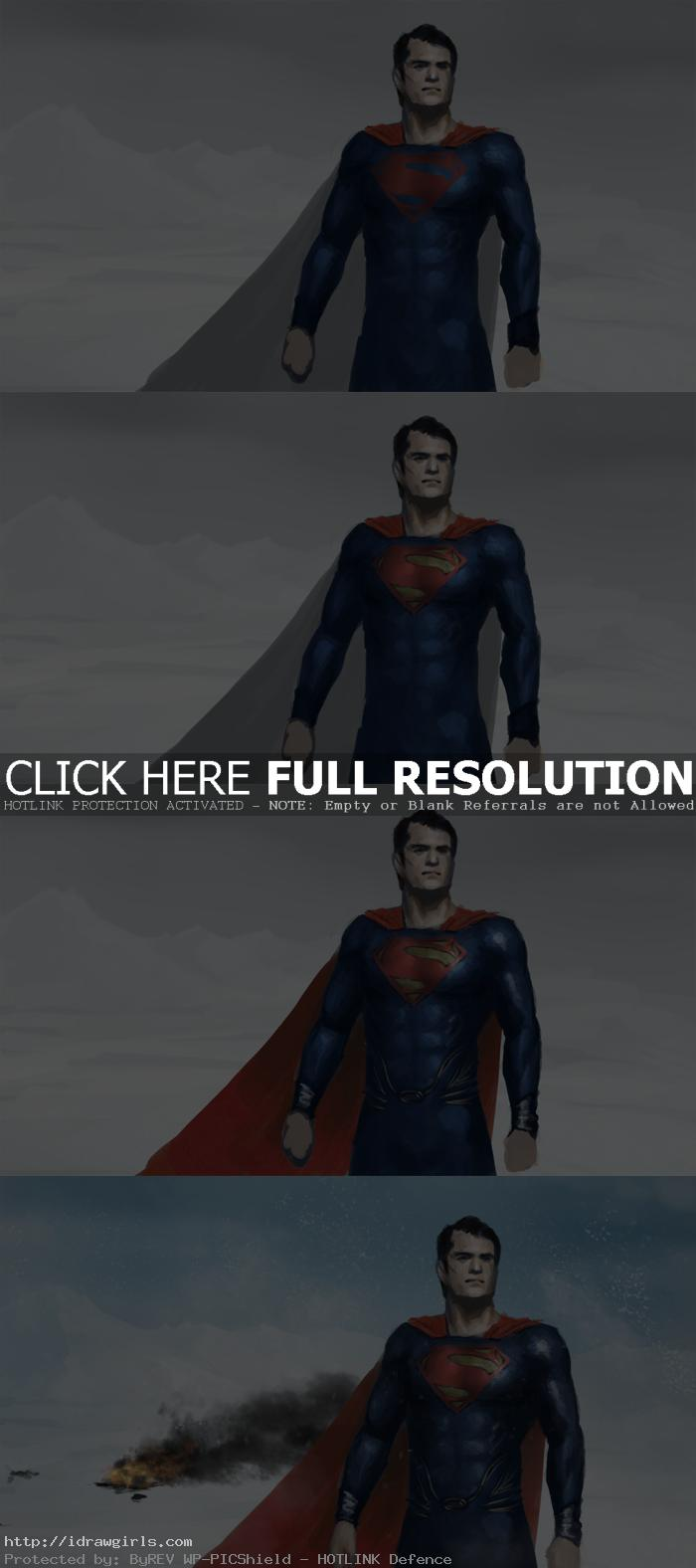 man of steel photoshop painting tutorial Man of steel digital painting tutorial
