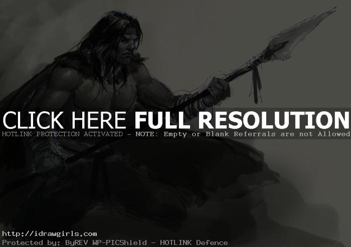 Kaladin character concept sketch version 1