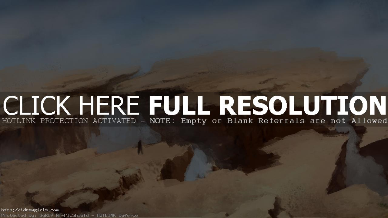 shattered plain b Environmental concept art painting over photo