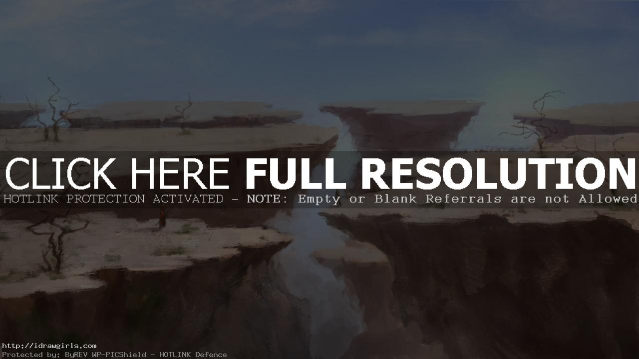 Shattered plain concept painting tutorial