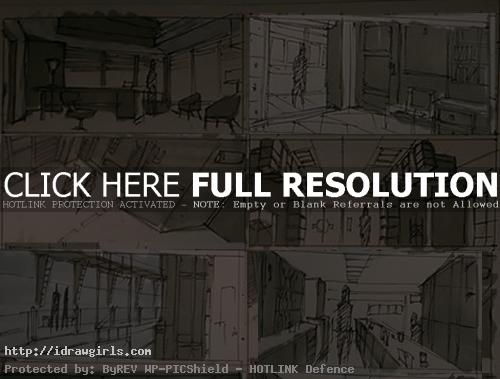 interior concept art thumbnails 01 Thumbnail interior environmental concept sketches