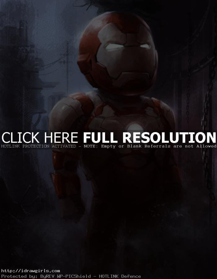 ironman chibi quick sketch How to paint Ironman 3 chibi