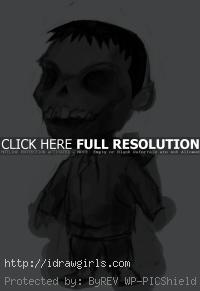 kid zombie drawing