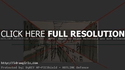 one points perspective bar sketch Bar environmental concept basic tutorial