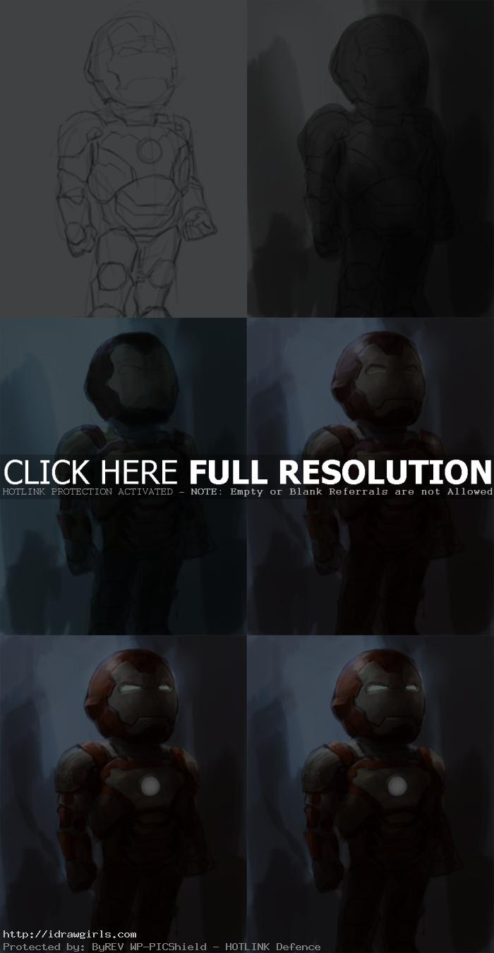 speedpainting tutorial ironman 3 How to paint Ironman 3 chibi
