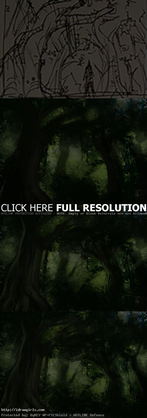Gretel Hansel environmental concept tutorial Gretel and Hansel environmental concept art tutorial