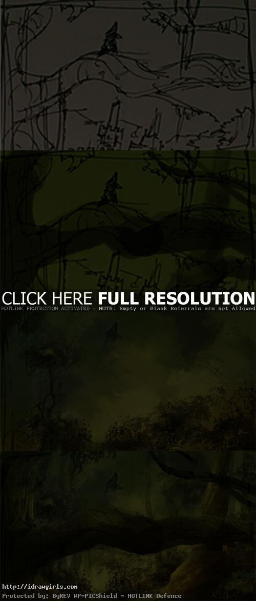 rapunzel speedpainting tutorial Rapunzel environmental concept art tutorial