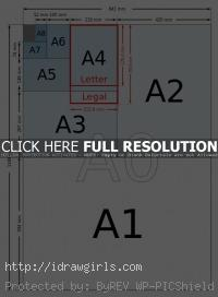 standard illustration paper sizes forartist