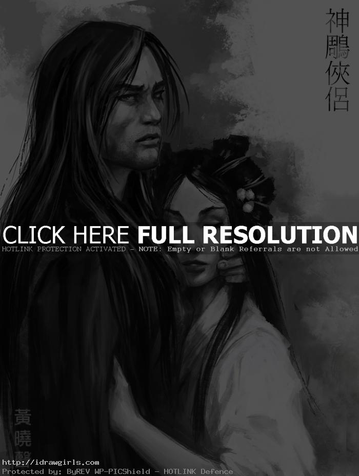 yang guo sketch Return of Condor Heroes Yang Guo sketch