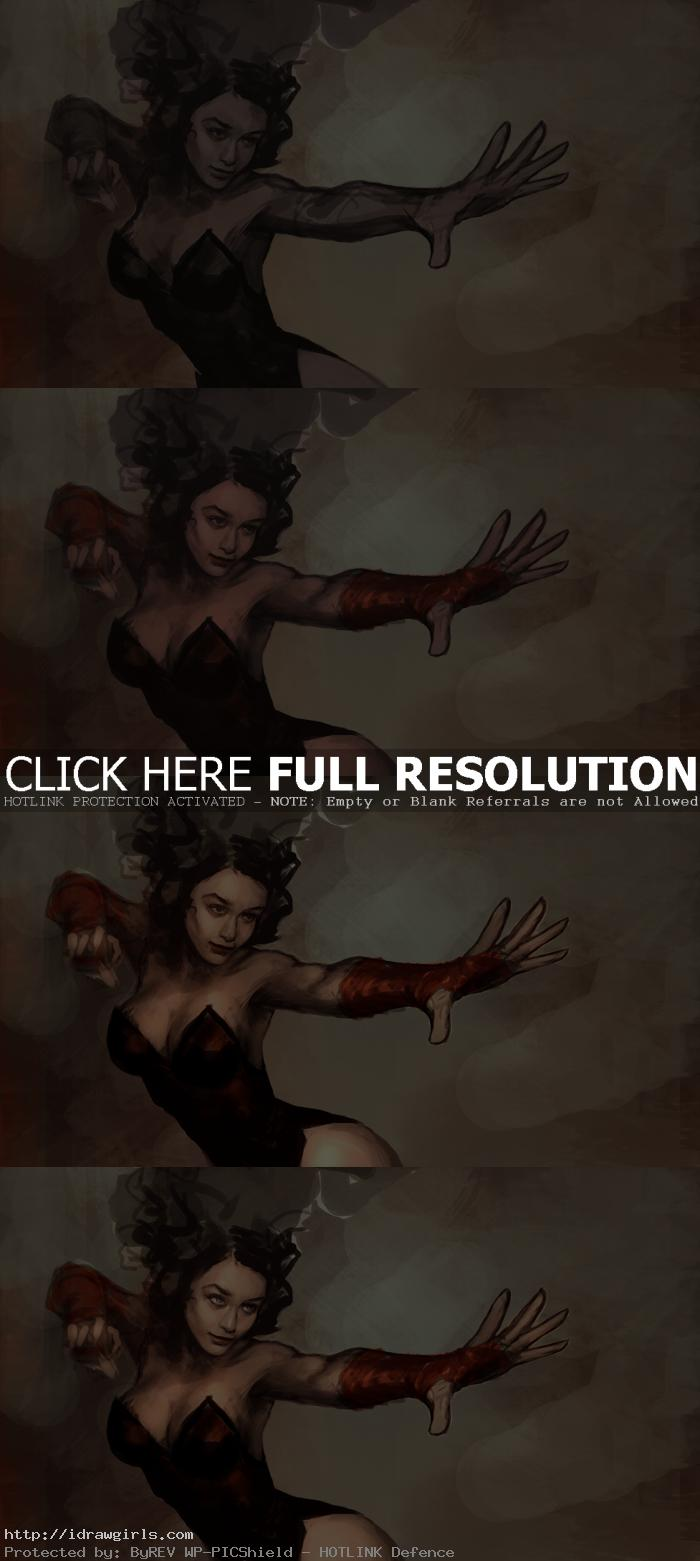 digital painting tutorial scarlet witch