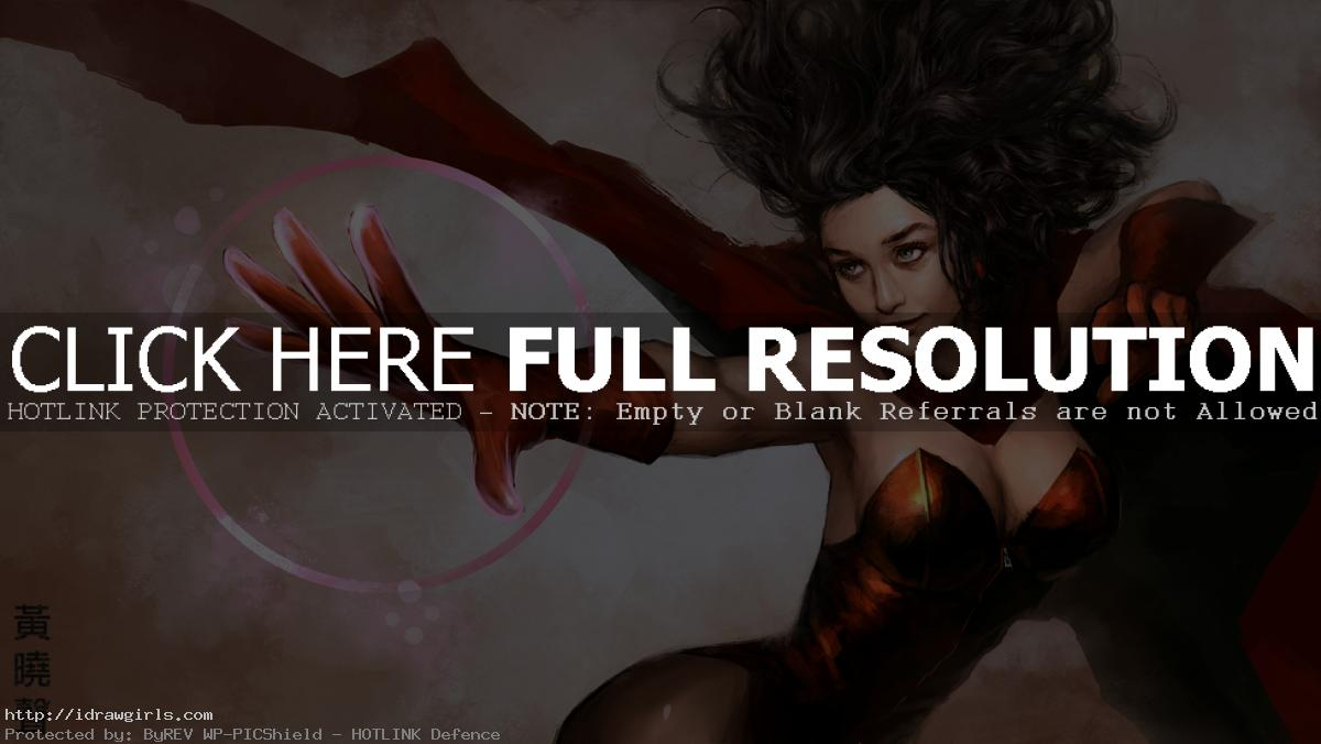 scarlet witch avengers 2 Scarlet Witch digital painting tutorial part 3