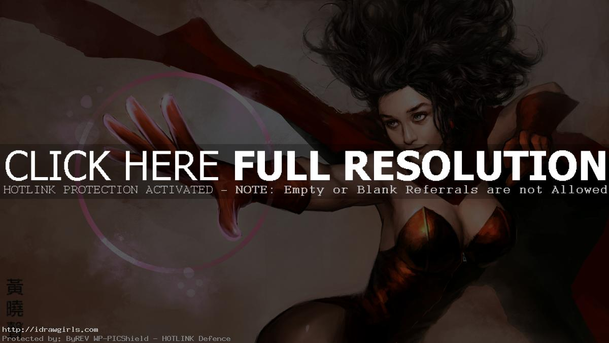 Scarlet Witch digital painting tutorial part 3