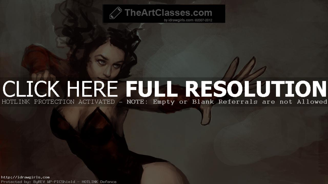 Scarlet Witch drawing tutorial part 2
