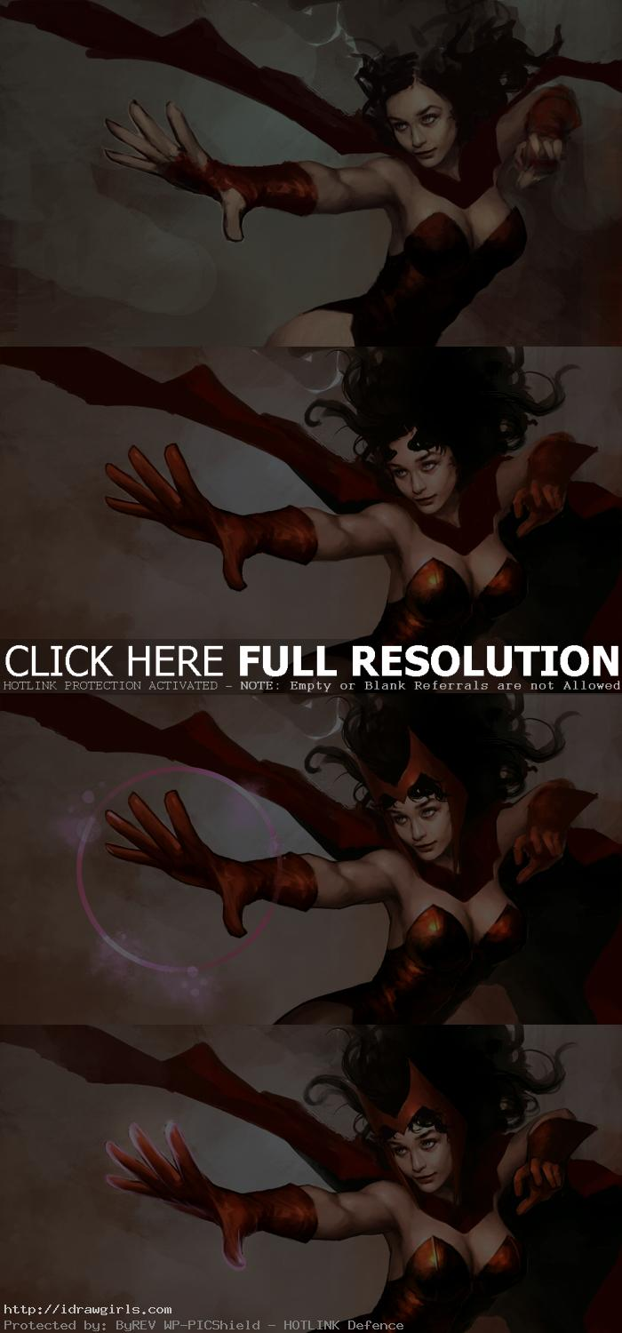 scarlet witch painting tutorial photoshop Scarlet Witch digital painting tutorial part 3