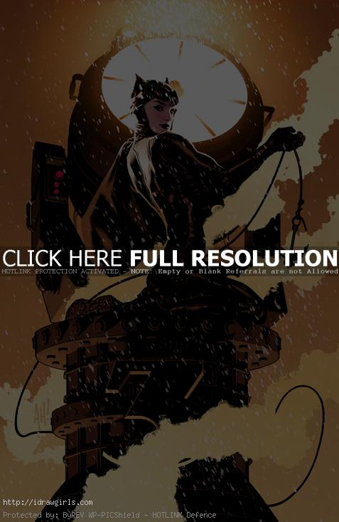 Catwoman by AdamHughes Top 5 amazing Catwoman artwork