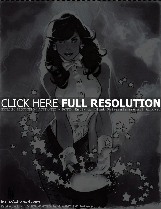 Adam Hughes Zatanna drawing