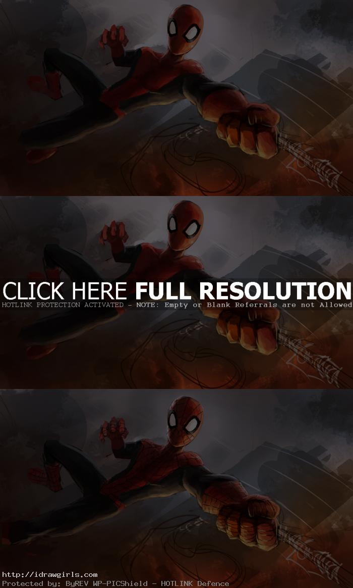 digital paiting tutorial amazingspiderman