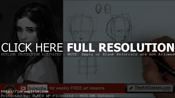 How to draw face basic proportion