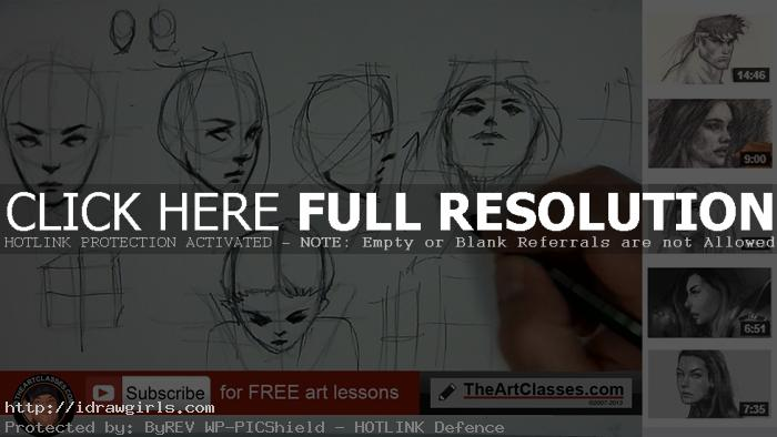 drawing face different angles or directions