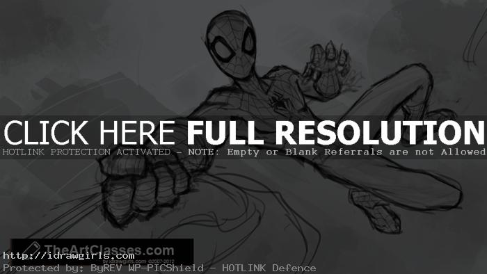 drawing spider-man tutorial