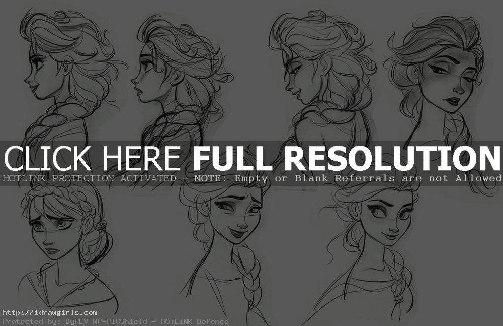 Elsa concept art from Fronzen