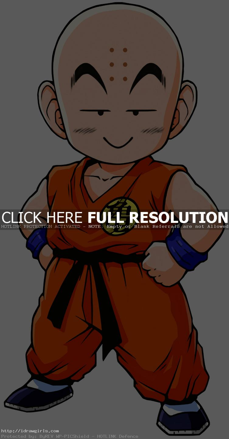 How to draw Krillin