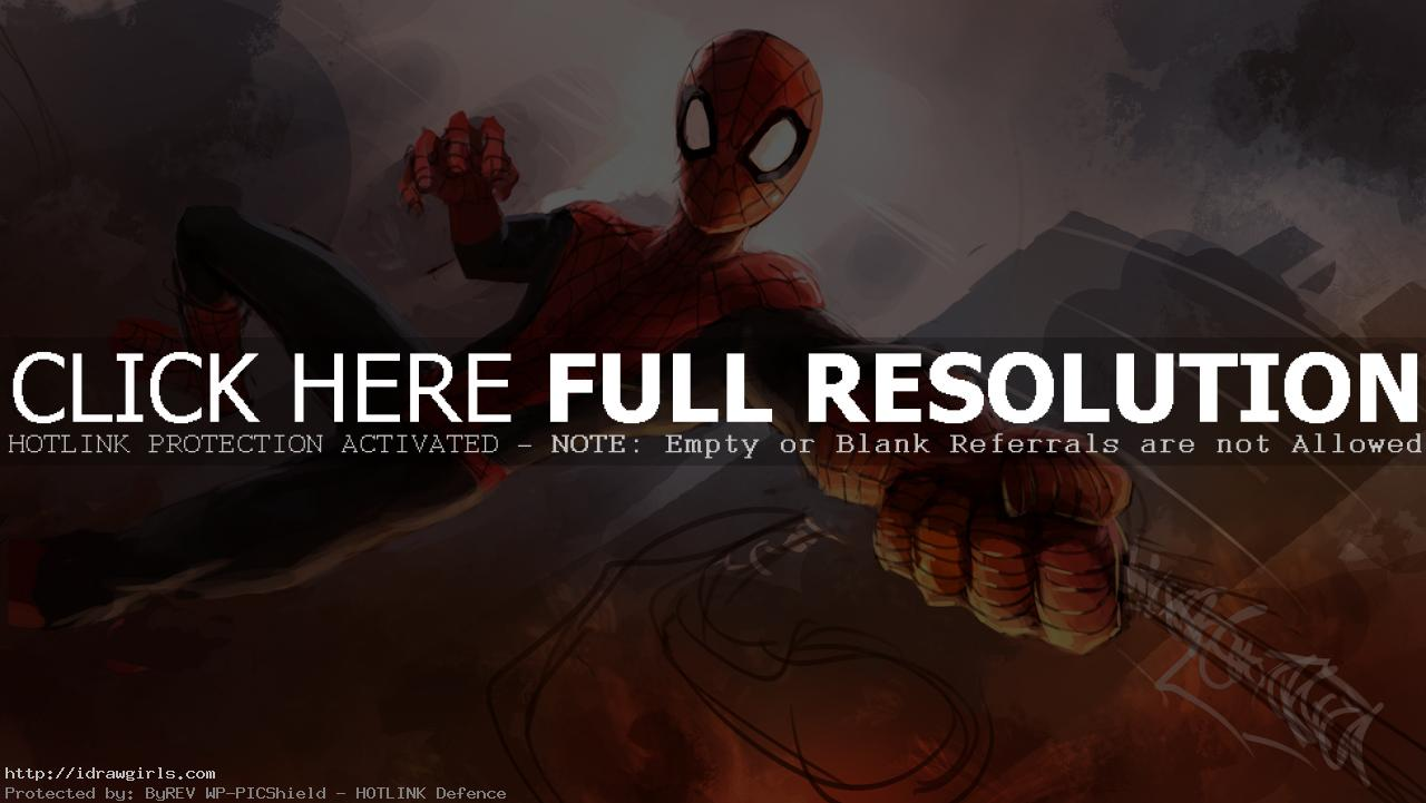 Digital painting tutorial Amazing Spider-Man part 2