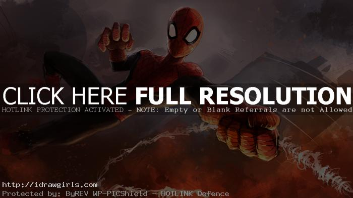 Digital painting tutorial Amazing Spider-Man part 3