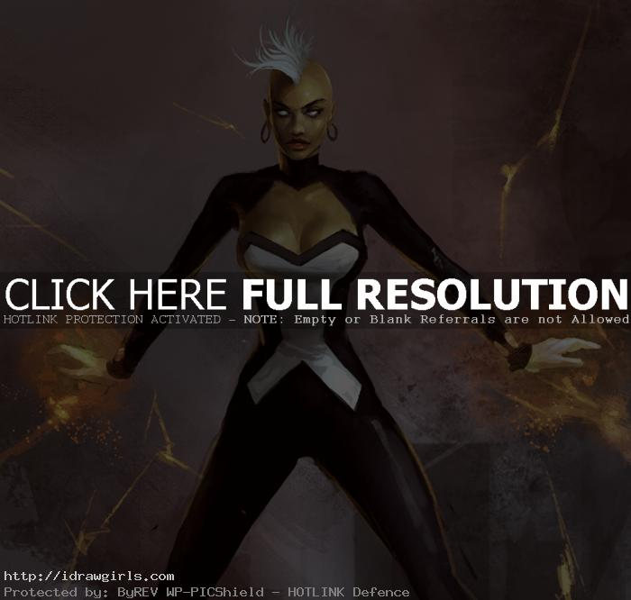 Storm X-men digital painting tutorial