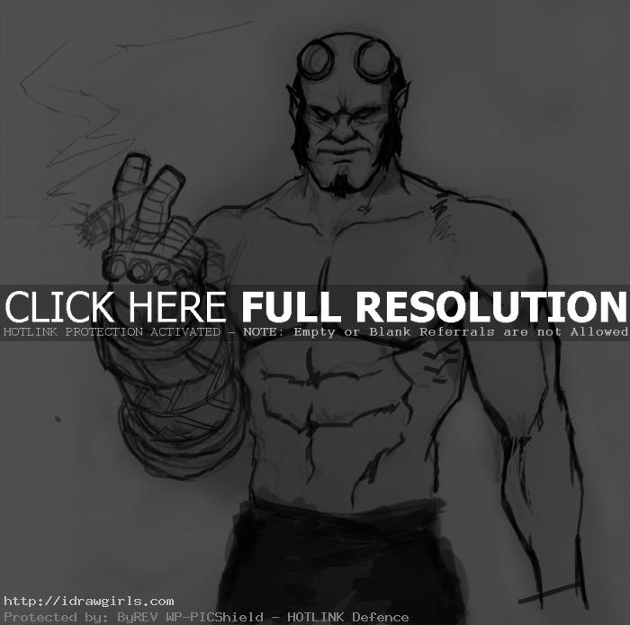 draw hellboy How to draw Hellboy