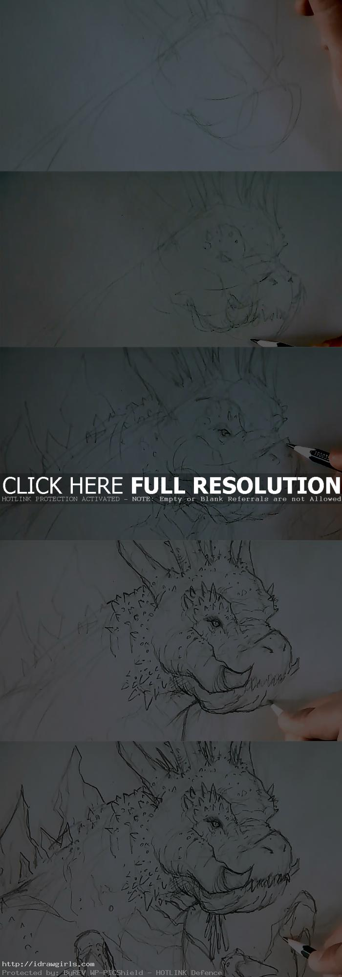 how to draw Kaiju creature design
