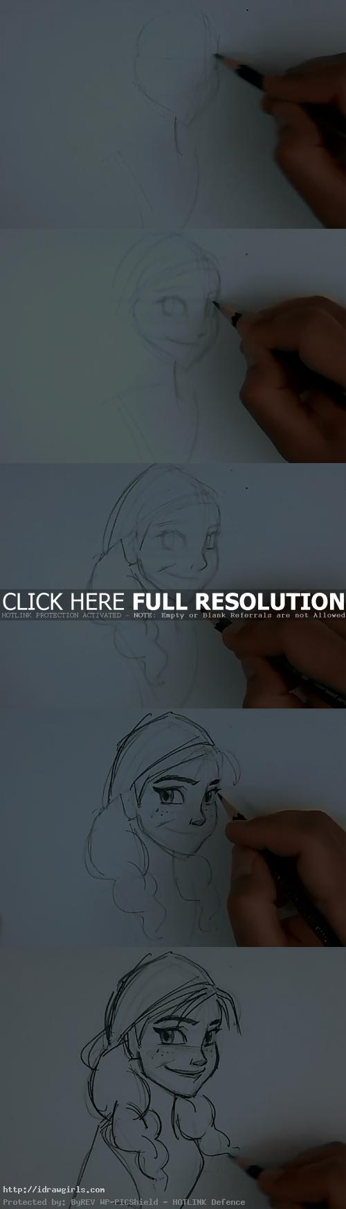 how to draw anna from frozen How to draw Anna from Frozen
