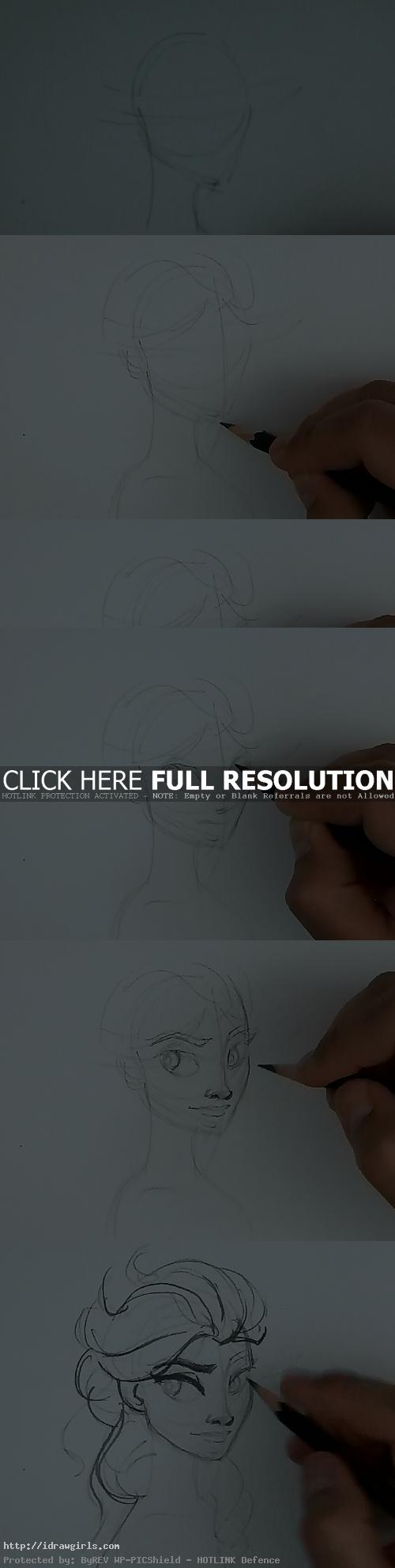 how to draw elsa frozen How to draw Elsa from Frozen