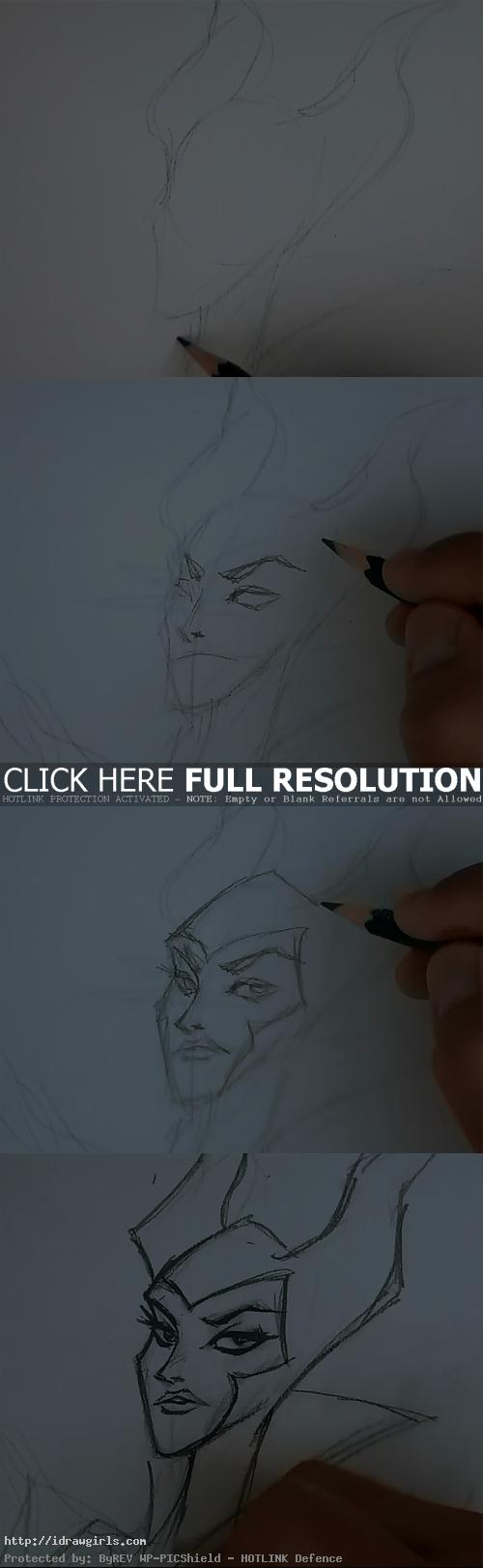 how to draw maleficent How to draw Maleficent