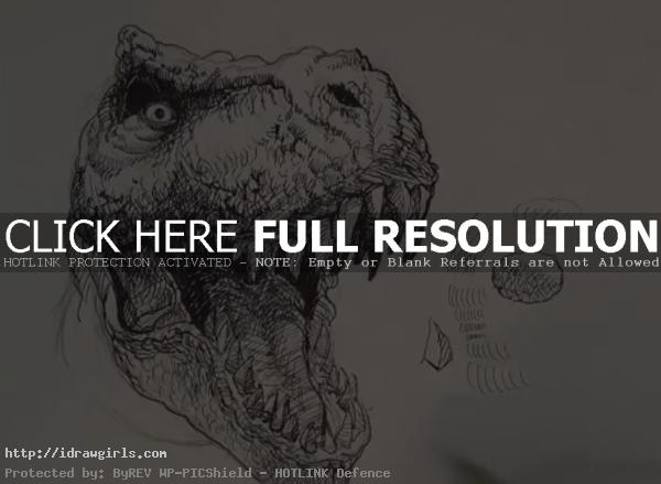 how to draw T-rex