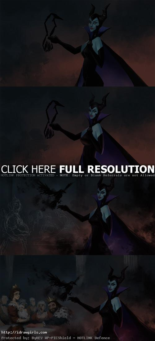 maleficent digital painting tutorial Maleficent digital painting tutorial