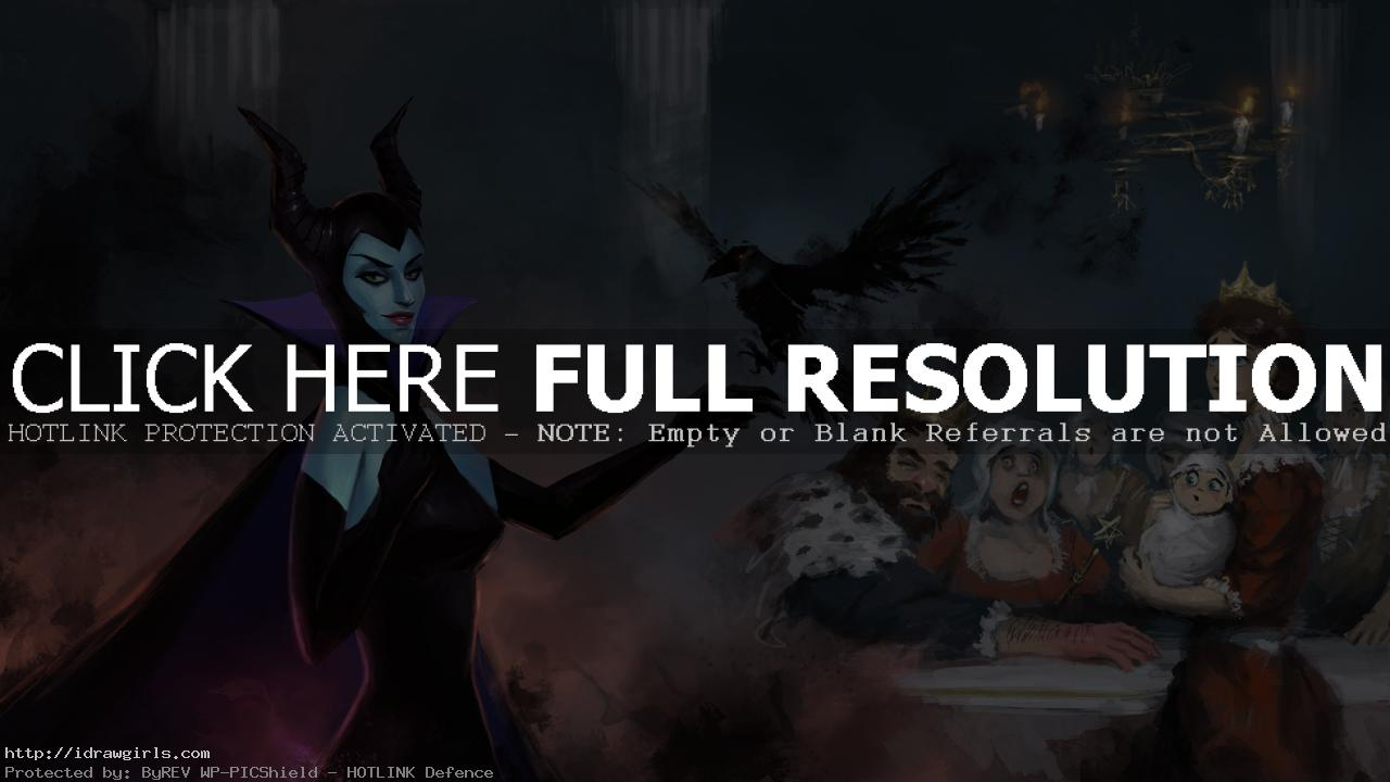 maleficent painting children book Maleficent digital painting tutorial