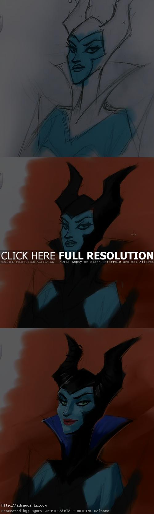 maleficent painting tutorial sketchbook pro Painting Maleficent tutorial using Sketchbook Pro 6