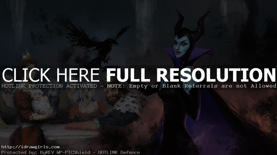 Maleficent digital painting tutorial part 4