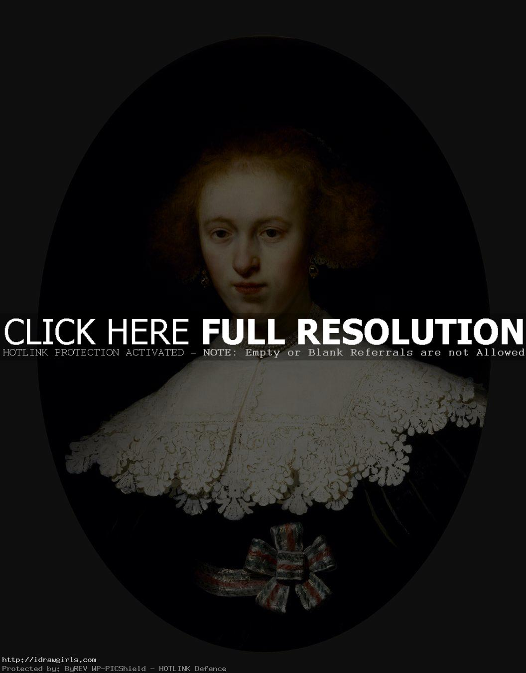 painting young woman by Rembrandt Rembrandt the Grand Master