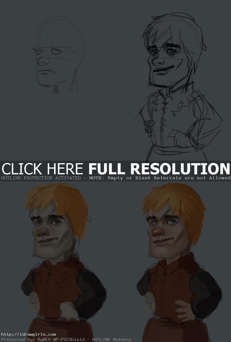 Digital painting tutorial Tyrion Lannister