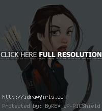 drawing Katniss Everdeen tutorial