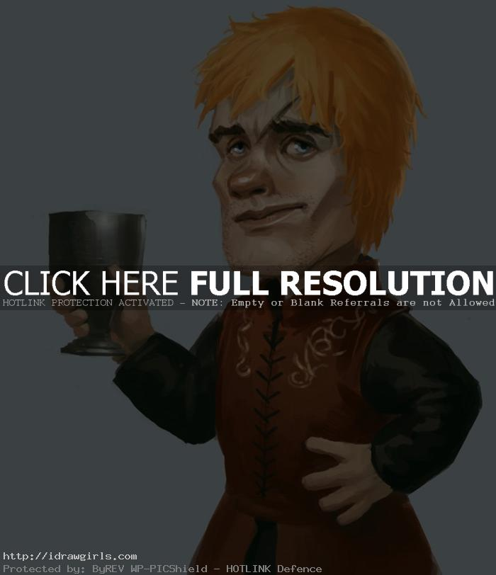 tyrion lannister How to draw portrait Tyrion Lannister