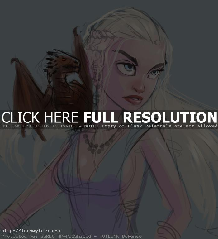 Drawing portrait and character tutorial Daenerys