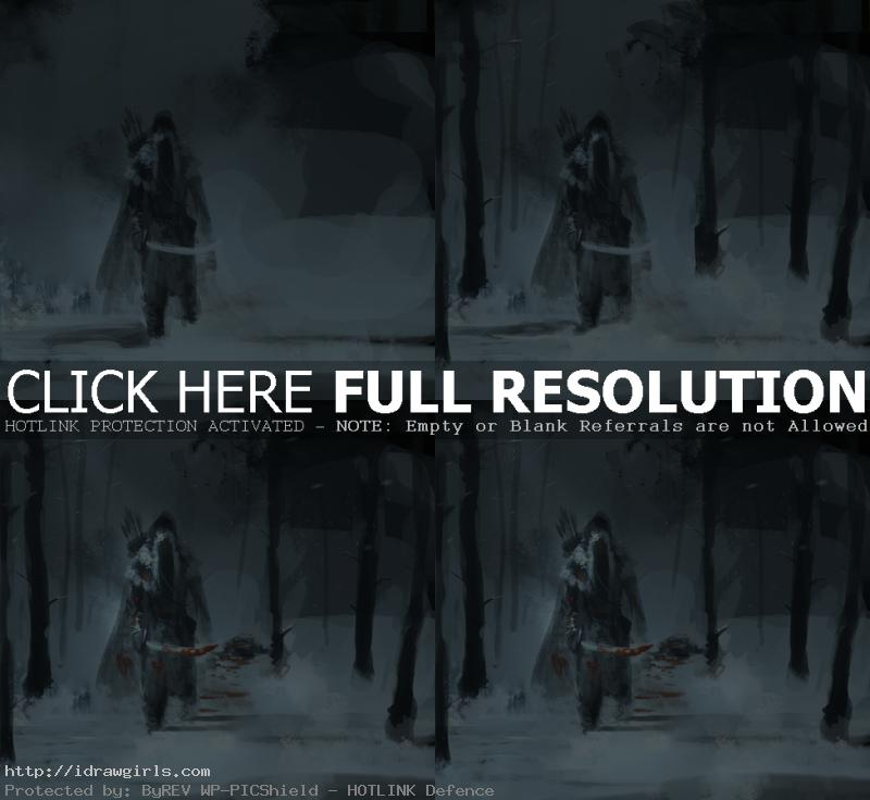 digital painting step by step assassin Digital painting tutorial concept art winter assassin