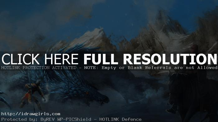 Ice dragon vs Sun Wukong digital painting process
