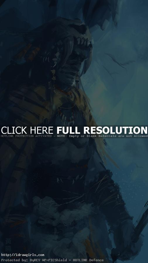 Digital painting tutorial ice age warrior