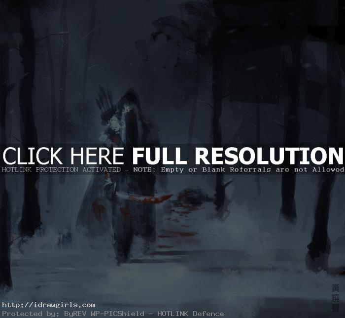 winter assassin Digital painting tutorial concept art winter assassin