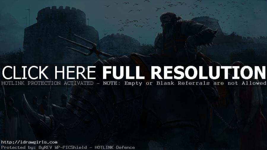 digital painting rhino knight concept art